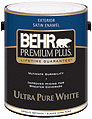 Berh Paint 5Gal White Exterior Satin